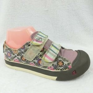 Keen Girls Florals Mary Jane Sneakers Size 6